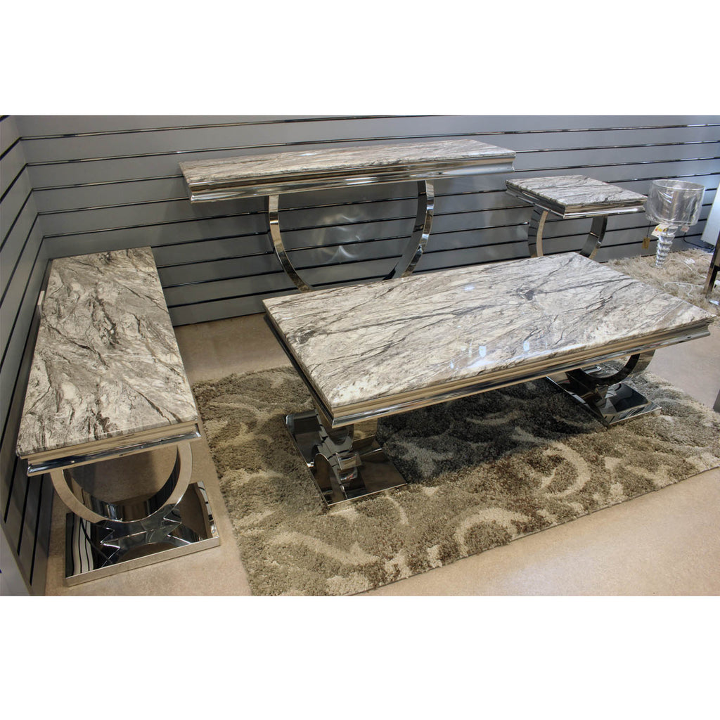 Grey Marble Top Coffee Table