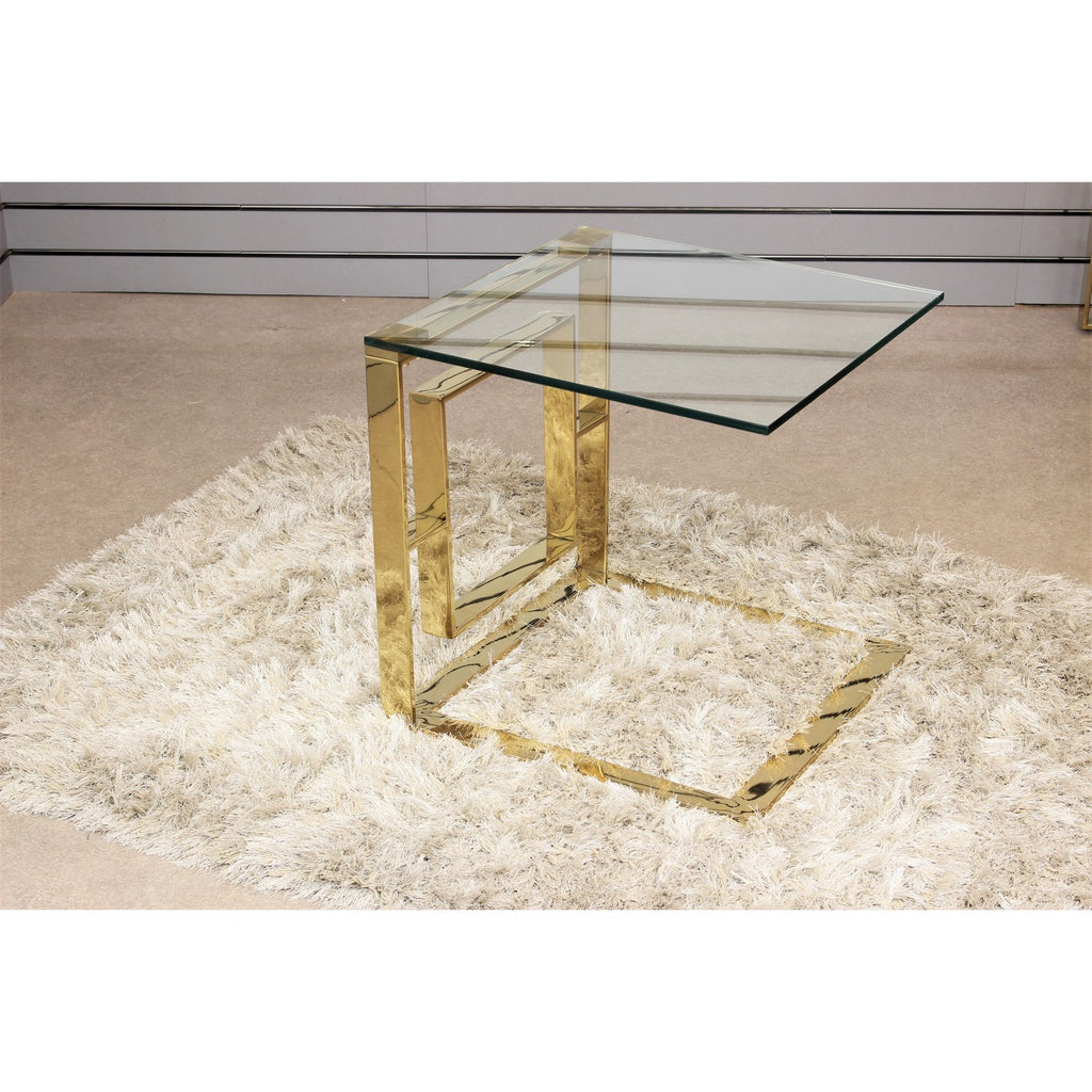 Geo Gold Metal End Sofa Table