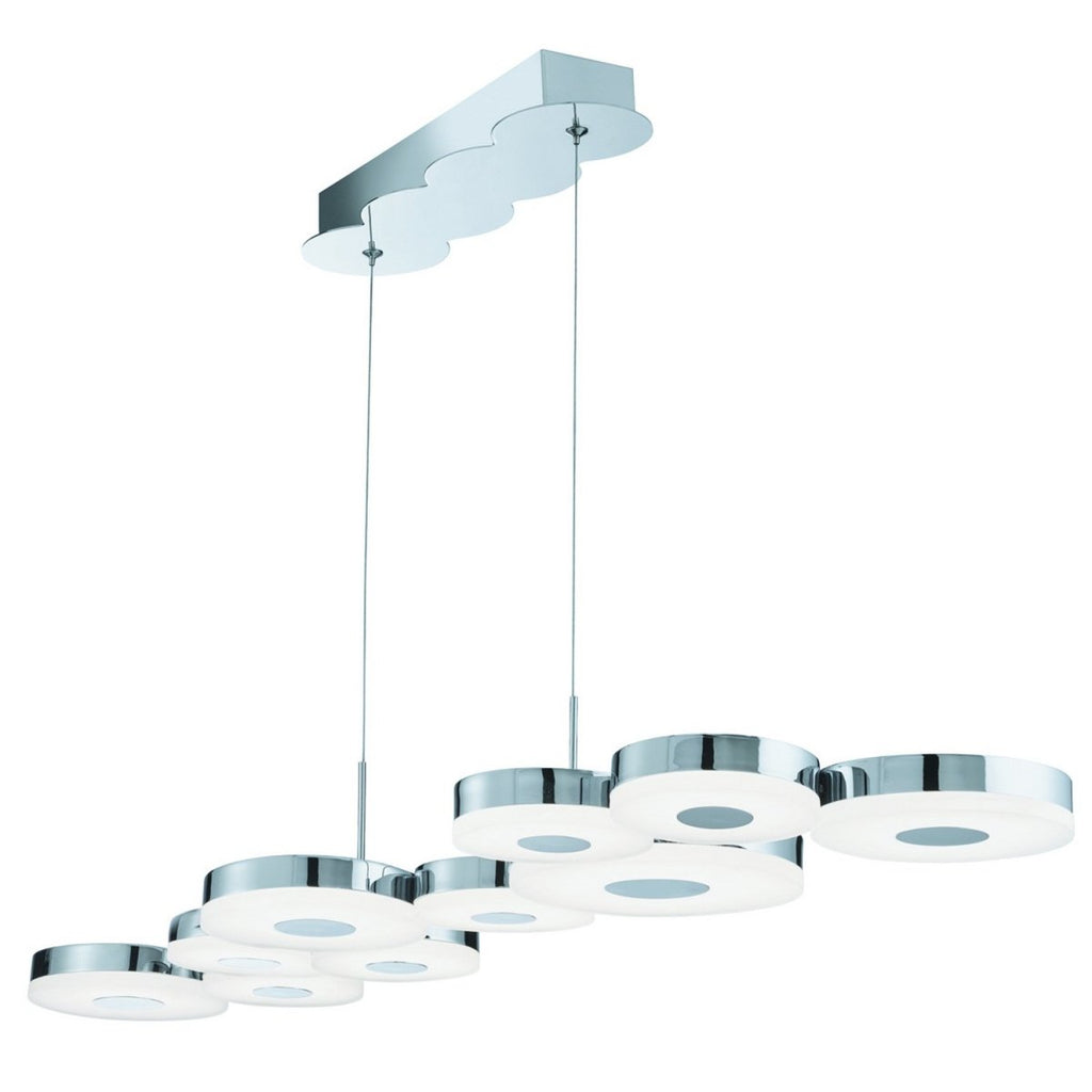 Chromia LED 10 Disc Bar Light Ceiling Fitting Lighting Frosted Acrylic Shades - Bonnypack