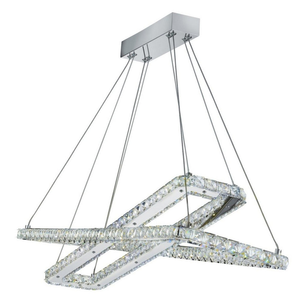 Clover Chrome Bright LED 2 Rectangle Frame Ceiling Light - Bonnypack