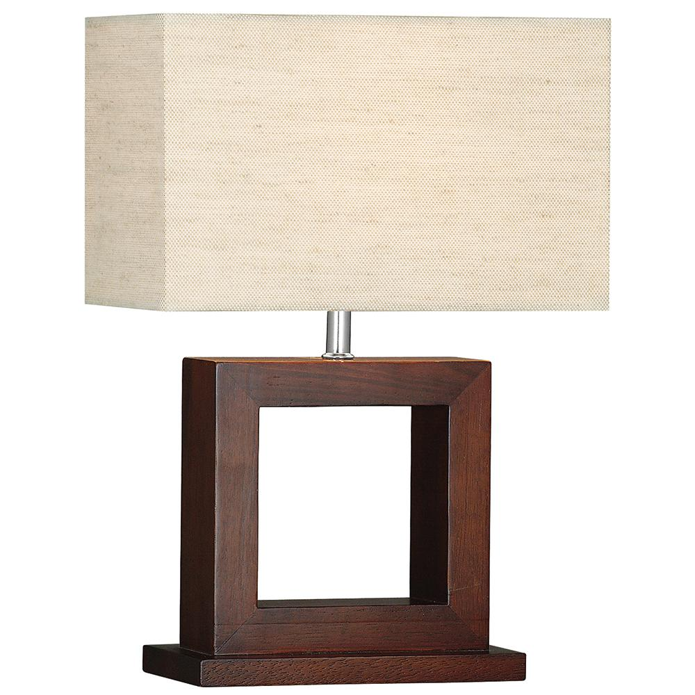Cosmopolitan Wood Square Modern Bedside Study Home Office Table Lamp - Bonnypack