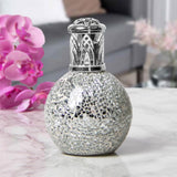 Desire Aroma Silver Mosaic Crackled Glass Fragrance Oil Lamp - Bonnypack