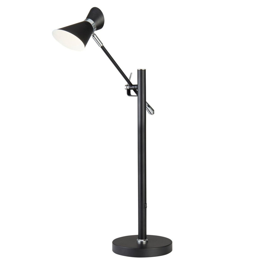 Diablo LED Matt Black/White Adjustable Reading Desk Table Lamp Light - Bonnypack