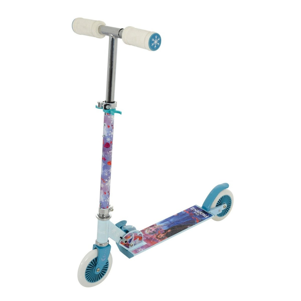 Disney Frozen 2 Girls Foldable Adjustable Inline Push Scooter - Bonnypack