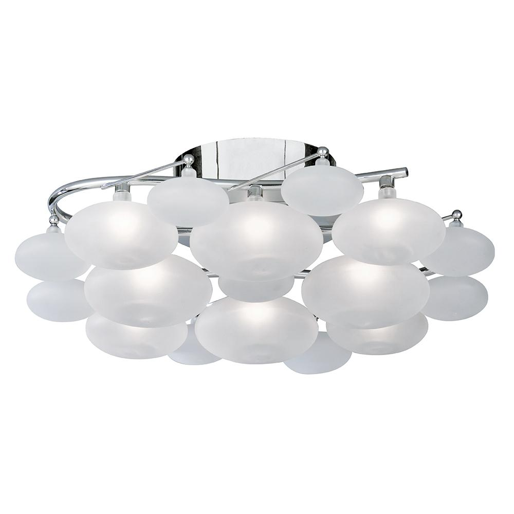 Dulcie 8 Lights Modern Chrome Flush Fitting Ceiling Chandelier Light - Bonnypack