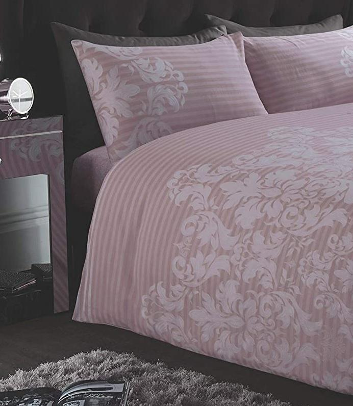 Empire Damask Blush Pink Single Duvet Cover Set - Bonnypack