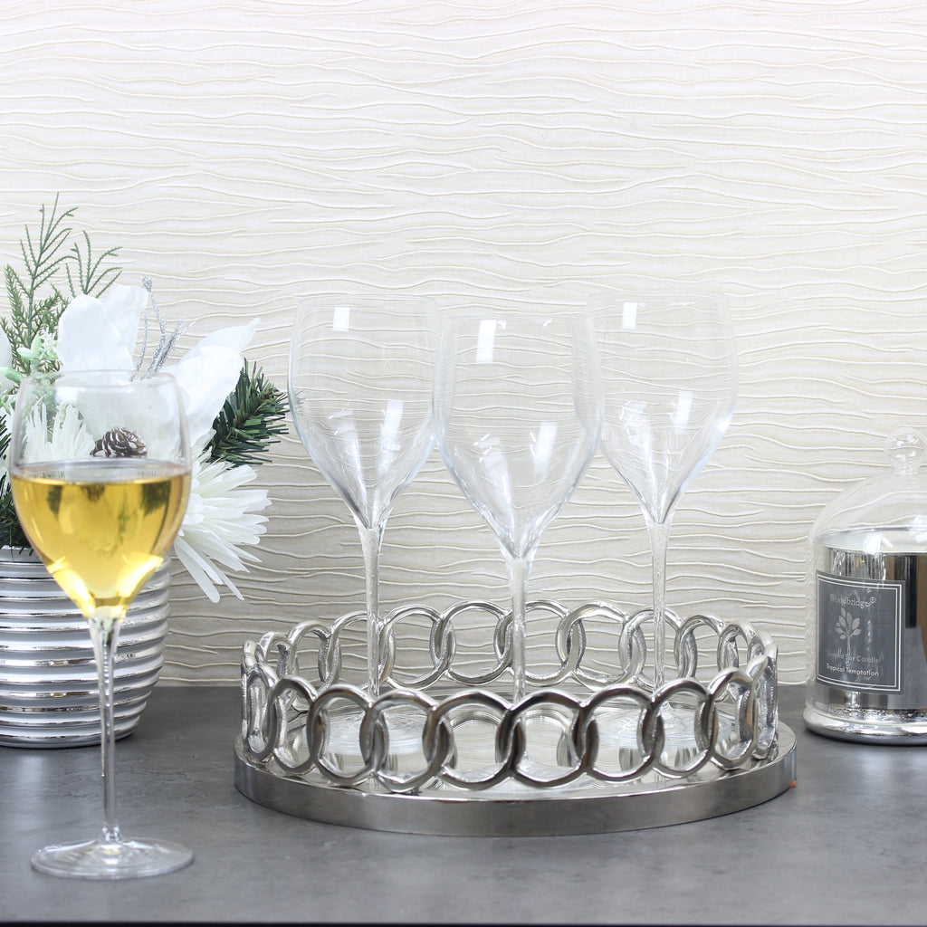 Set of 4 'Davenport' Crystal Glass Flutes