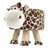 Giraffe Stuffed Animal Non-slip Round Kids Stool