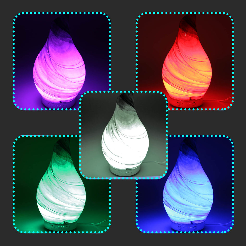 Desire Aroma Humidifier Colour Changing Lamp - Black Marble