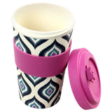 600ml Purple Bamboo Travel Mug