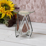 Mirrored Glass Oil Warmer Wax Melt Burner Red Crystals - Bonnypack