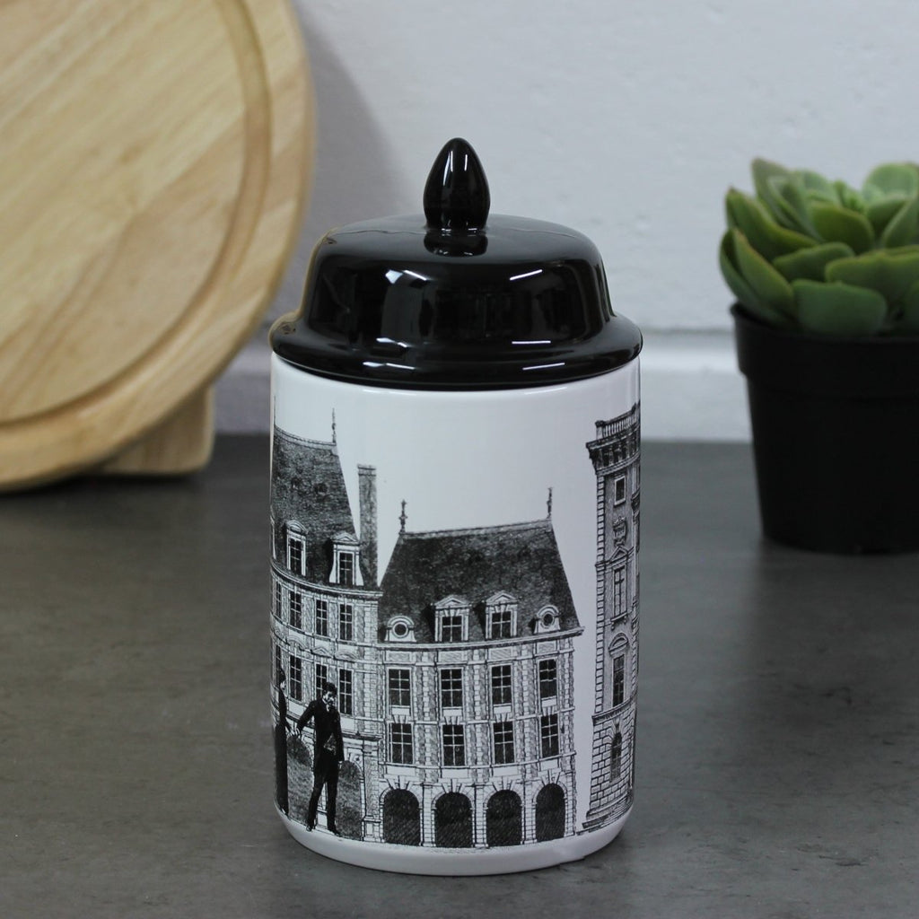 Monochrome Building Design Canister - Bonnypack