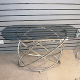 Orbit Smoked Glass Top Console Table - Bonnypack