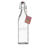 Kilner Clip Top 1L Glass Bottle Oils Juice Storage