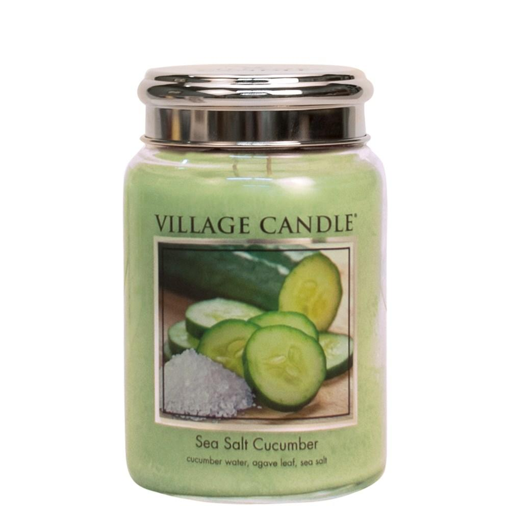 Sea Salt Cucumber Scented Village Candle Agave Leaf Fragrance - Bonnypack