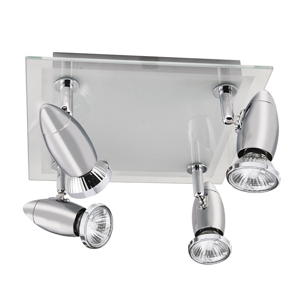 Searchlight 4 Lights Glass Chrome Modern Home Ceiling Fitting Spot Bar Light New - Bonnypack