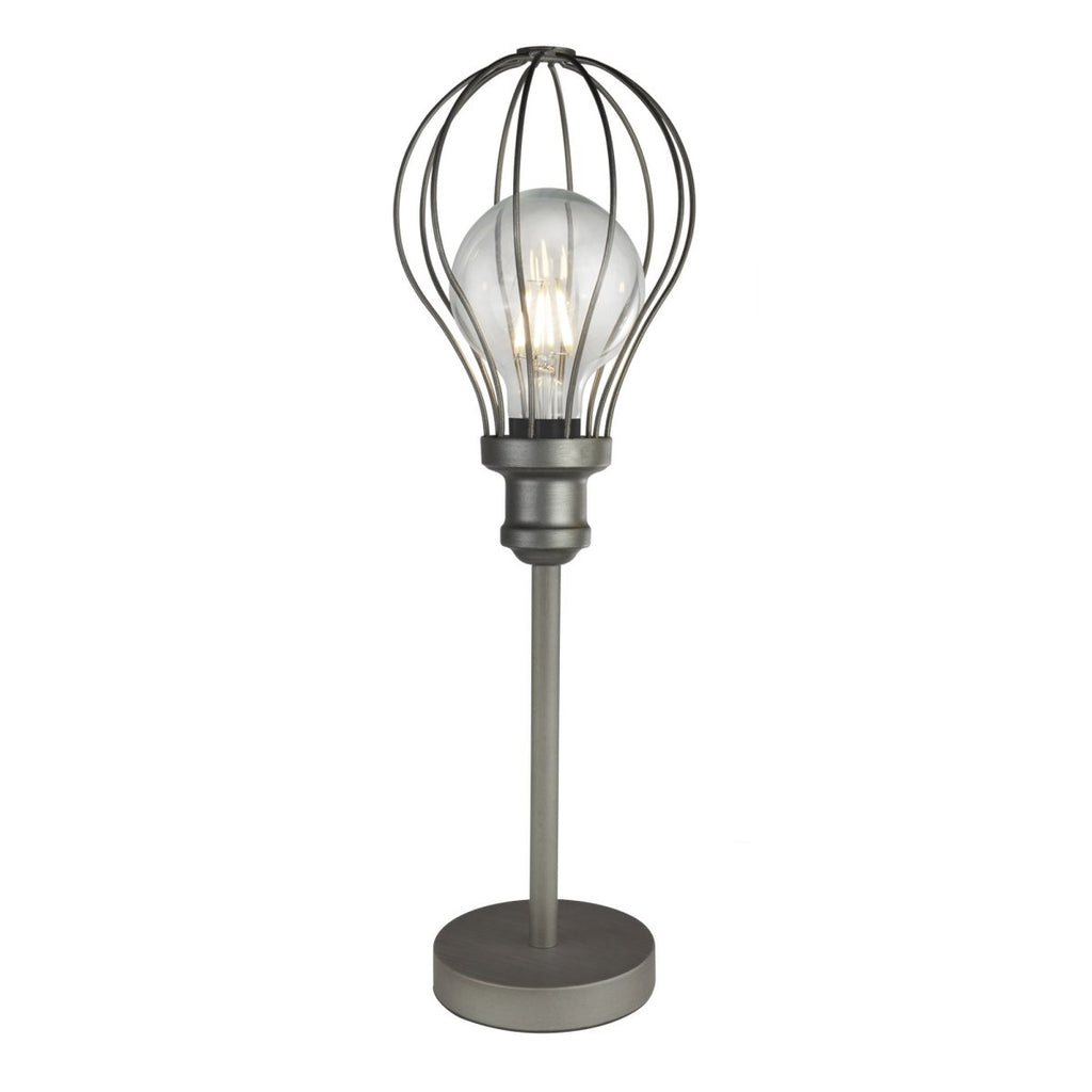 Searchlight Balloon Cage 1 Light Table Light Pewter - Searchlight