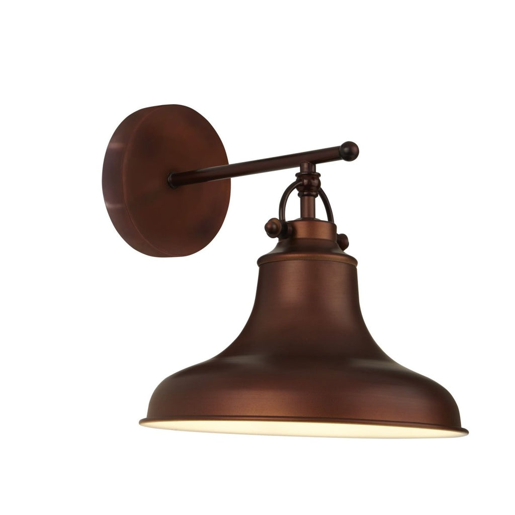 Searchlight Dallas 1 Light Industrial Wall Light Antique Brown - Bonnypack