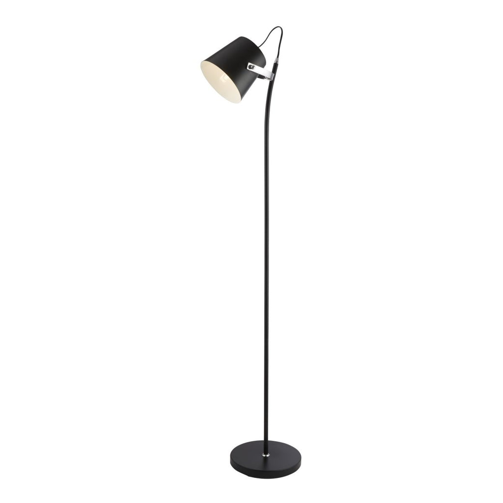 Searchlight Flower Pot 1 Light Floor Lamp Painted Black - Searchlight