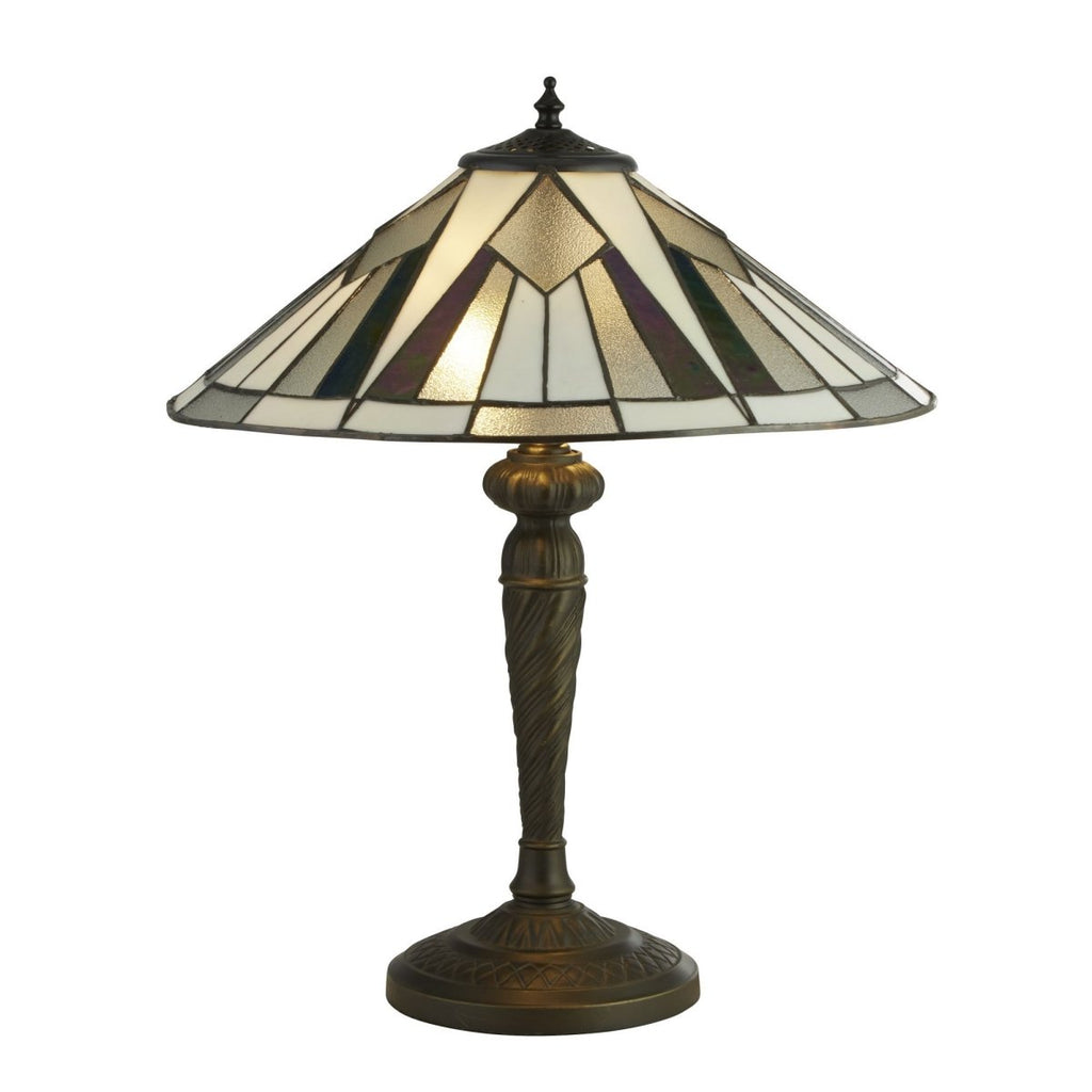 Searchlight Gatsby Tiffany Table Lamp Multi Colored - Bonnypack