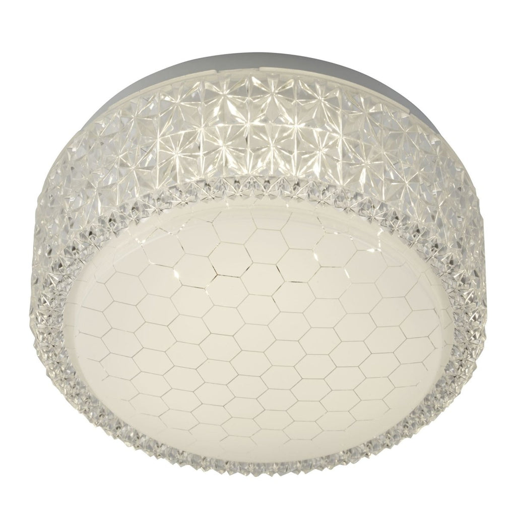 Searchlight LED Flush Fitting Honeycomb Pattern Shade - Bonnypack
