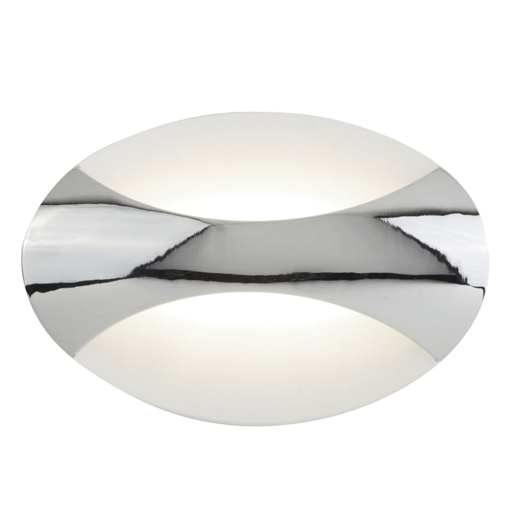 Searchlight LED Wall Light Oval Chrome/Sand White - Bonnypack