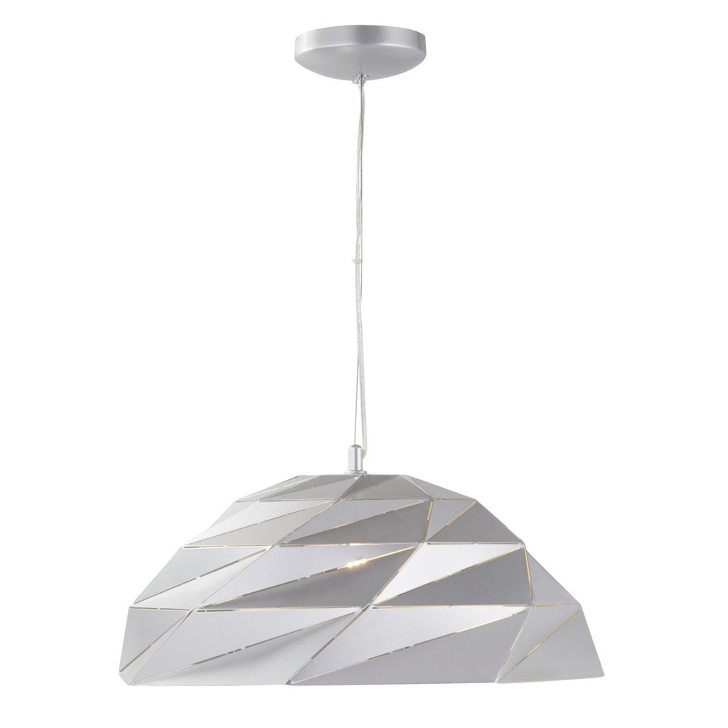Searchlight Origami Dome Pendant Metallic Silver - Bonnypack