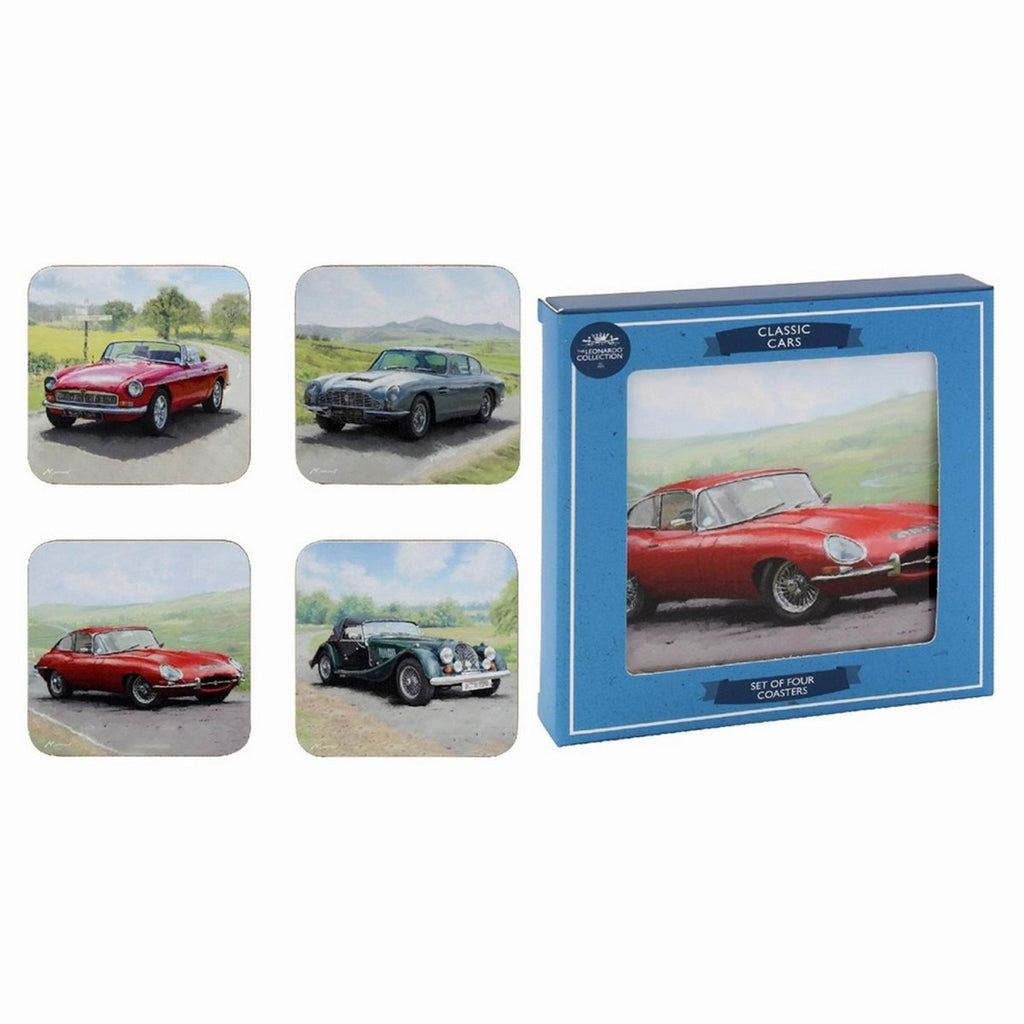 Set of 4 Classic Cars Design Coasters - Bonnypack