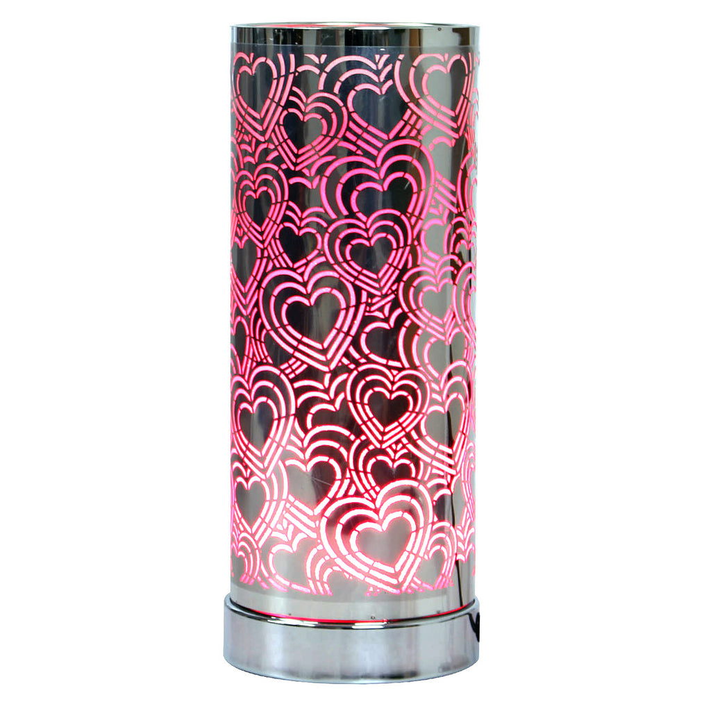 Hearts Led Oil Burner - Silver