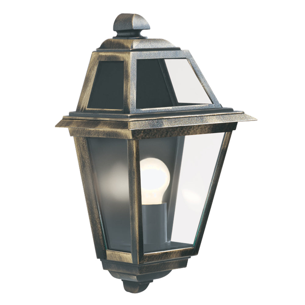 New Orleans 1 Light Cast Black/gold Finish Outdoor Wall Light Lamp - Searchlight