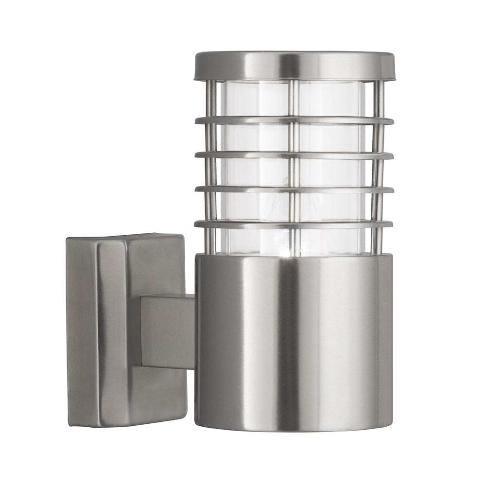 1 Light Satin Silver Stainless Steel Low Energy Outdoor Wall Light - Bonnypack