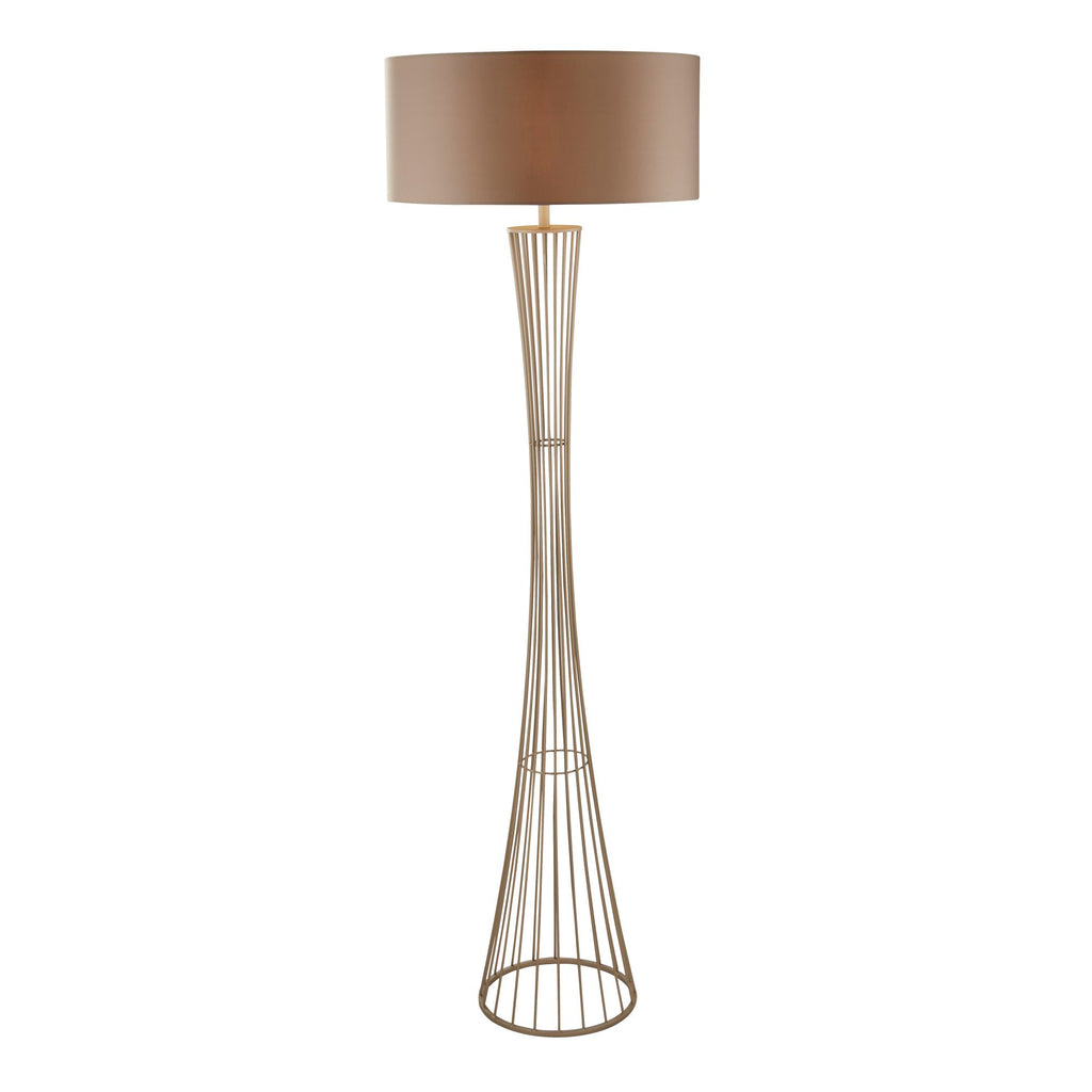 Searchlight Wheatsheaf Cage Frame Floor Lamp Champagne
