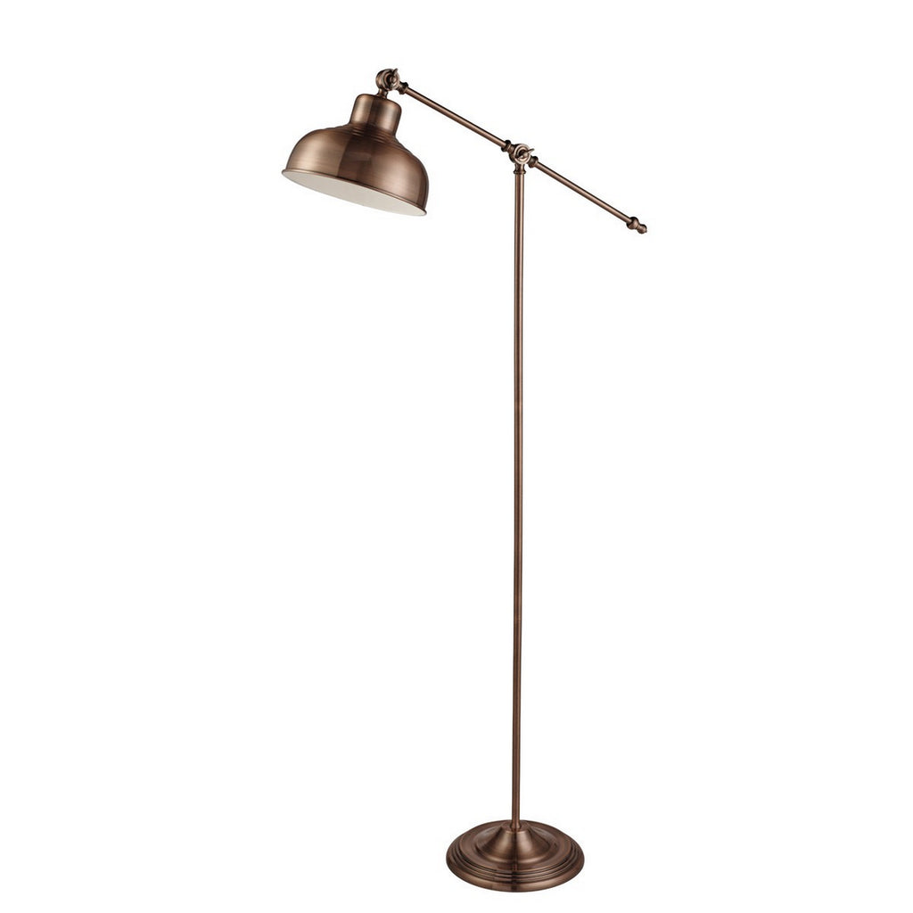 Macbeth Copper Free Standing Standard Adjustable Floor Lamp
