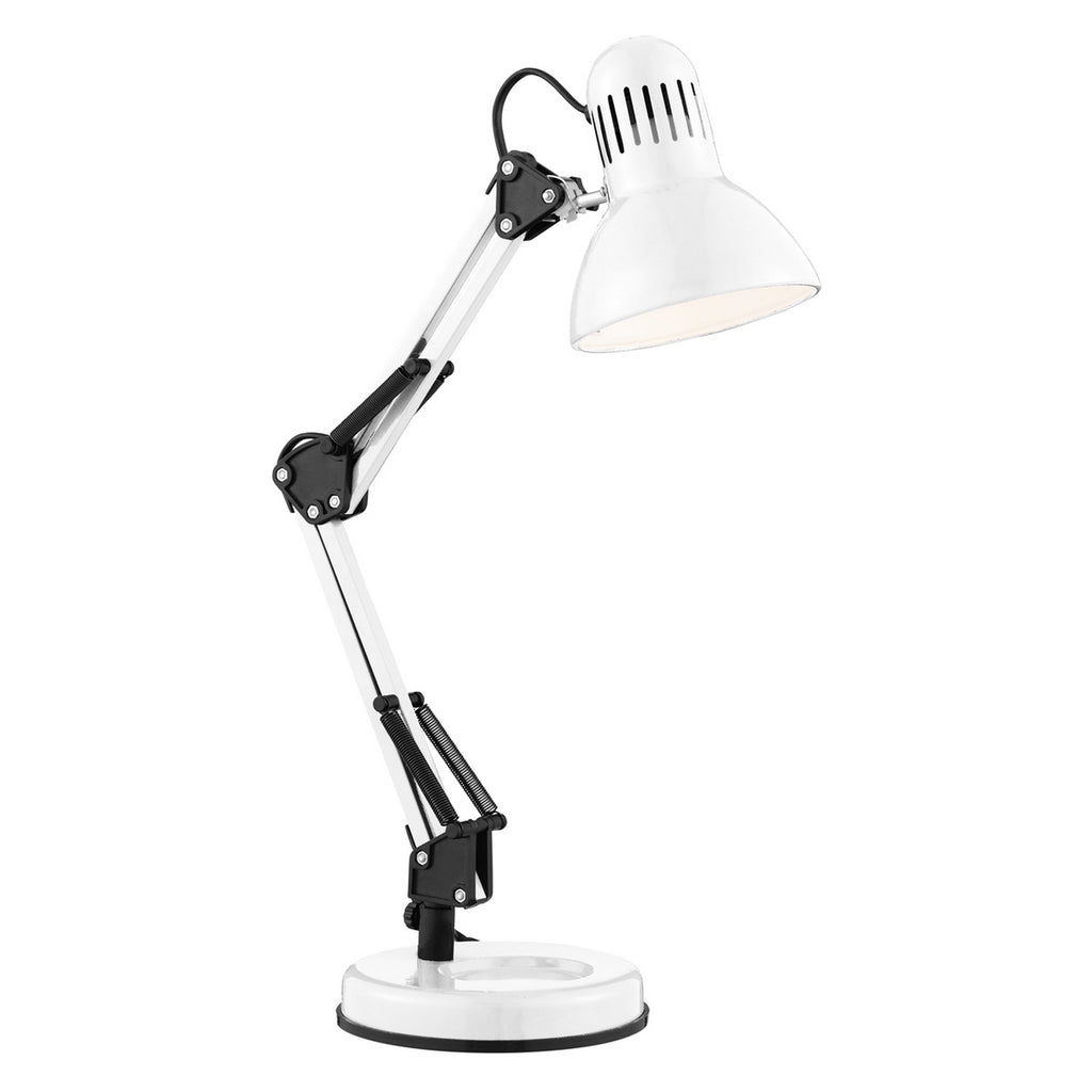 Shiny White Adjustable Hobby Table Lamp Bedside Study Light