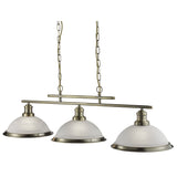 Bistro 3 Light Ceiling Bar Ceiling Pendant With Acid Glass Shades