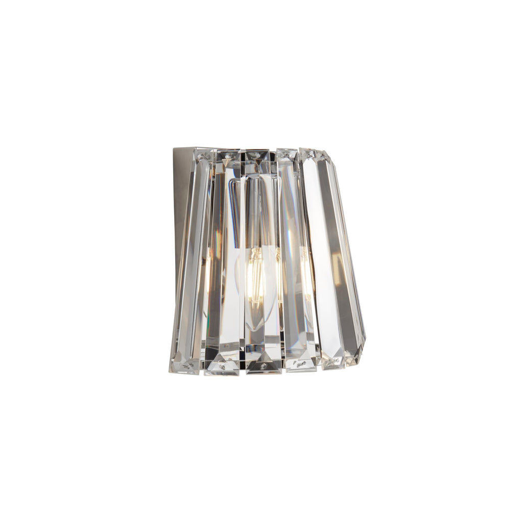 Searchlight Tiara 1 Light Wall Light Chrome With Crystal Glass