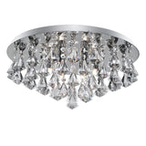 Hanna 6 Lights Chrome Crystal Flush Ceiling Fitting Chandelier Light