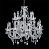 12 Lights Chrome Crystal Traditional Ceiling Fitting Chandelier