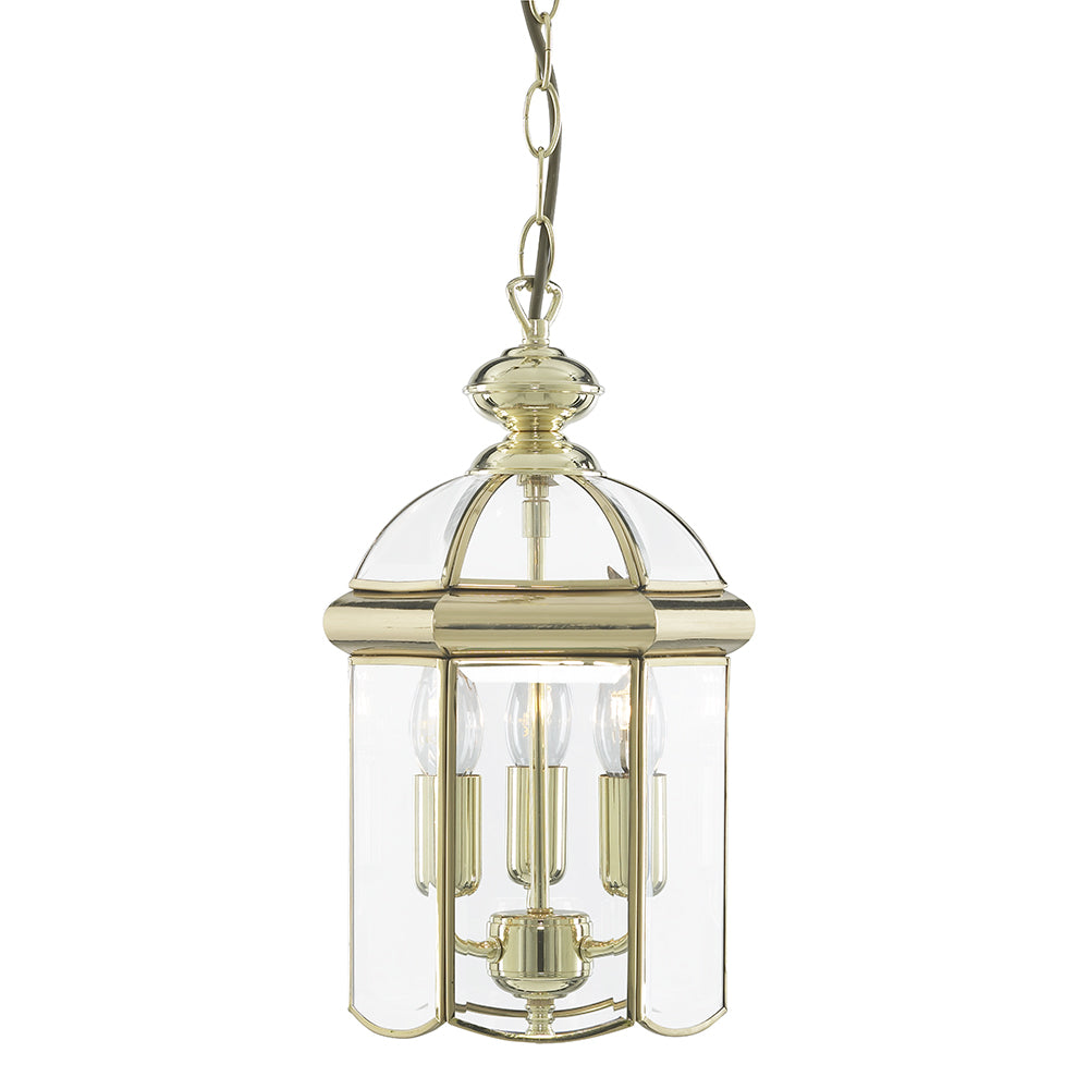 3 Lights Brass Ceiling Fitting Pendant Chandelier Lantern Light