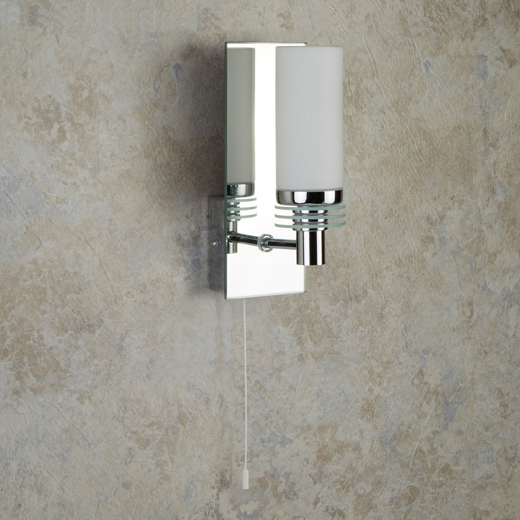 Lima 1 Light Mirror Backplate Bathroom Wall Bracket Bath Lighting