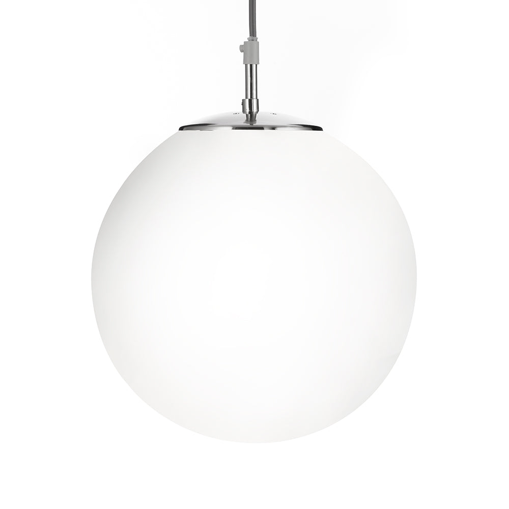 10inch Opal Ball Satin Silver Single Ceiling Fitting Pendant Light