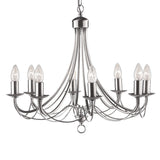 8 Lights Traditional Silver Ceiling Fitting Chandelier Pendant Light