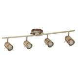 Samson 4 Light Antique Brass Split Bar Bathroom Ceiling Spotlight