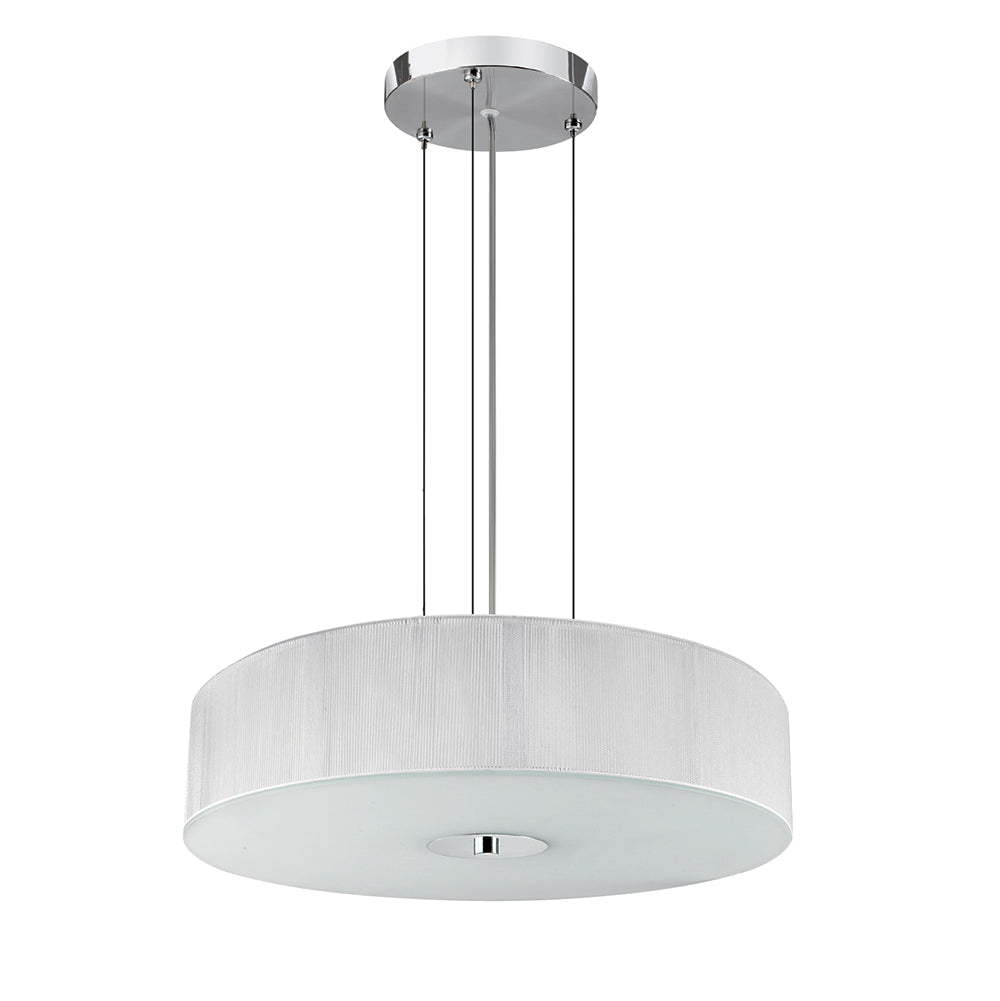 3 Lights Contemporary White String Pendant Ceiling Chandelier Light