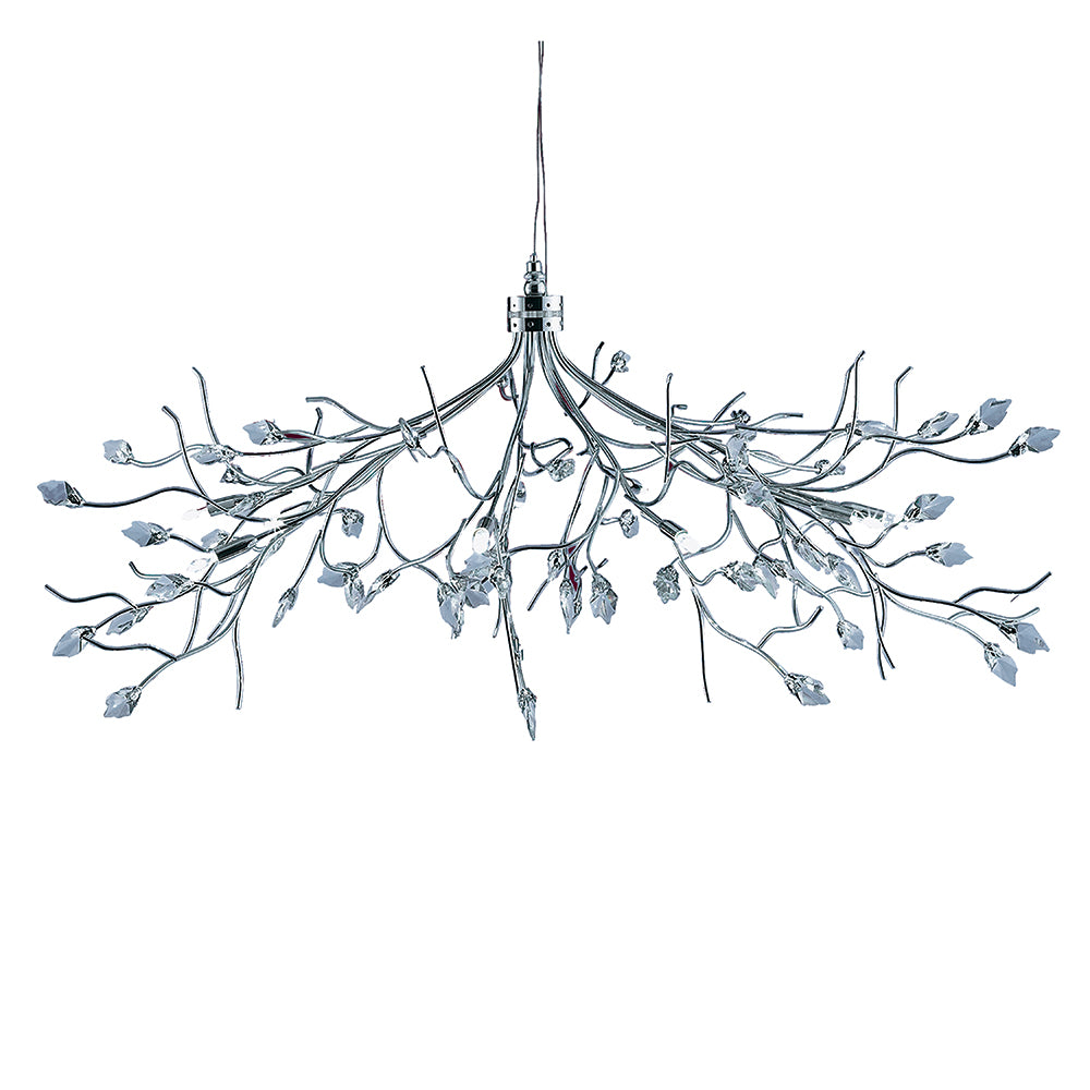 10 Halogen Lights Chrome Crystal Chandelier Ceiling Pendant Light