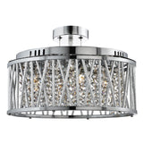 Elise Chrome 5 Light Ceiling Lighting Chandelier