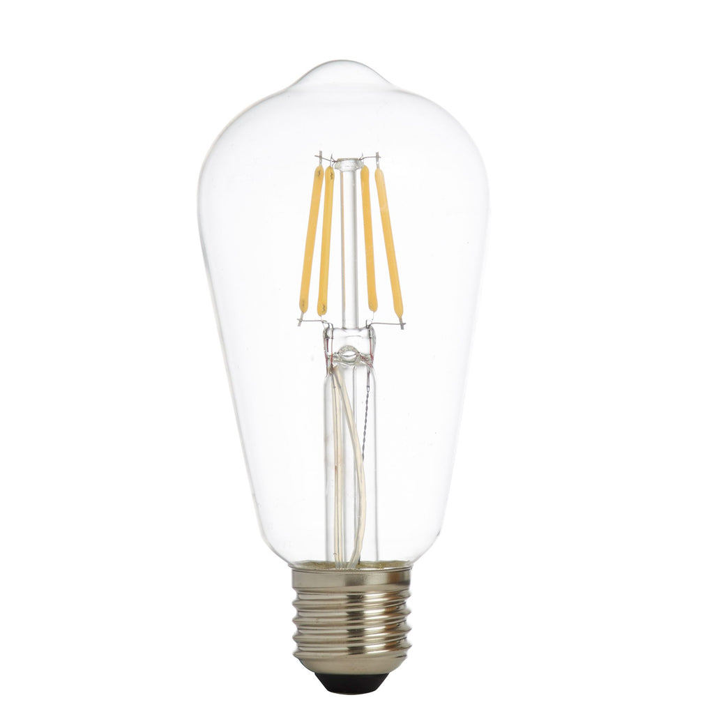 5 Led Filament Squirrel Lamp Clear Glass E27 6W 600Lm 3000K