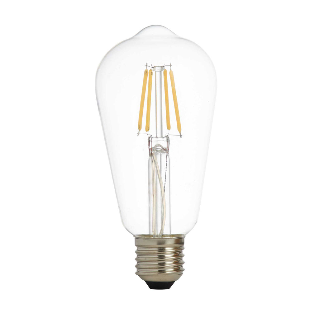 5 Dimmable Led Filament Squirrel Lamp Clear Glass E27 6W 600Lm 2700K