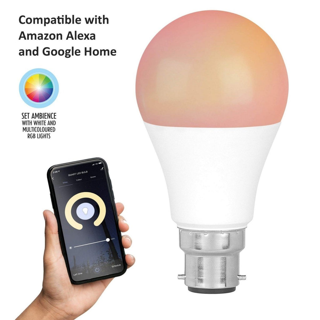 WIFI Bayonet 8.5W RGB White Light Google Amazon Compatible Smart Bulb - Bonnypack