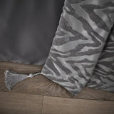Zsa Zsa Crushed Velvet Quilted Bedspread - Grey